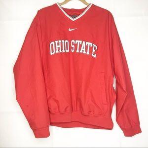 Red Nike Ohio State windbreaker Medium